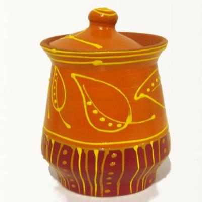 Vas din ceramică cu capac,...
