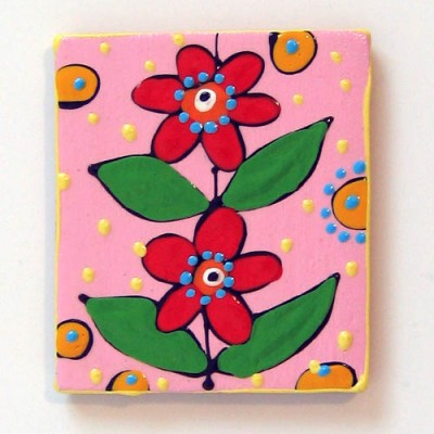 Magnet frigider floare