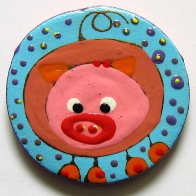Magnet frigider cu porcusor