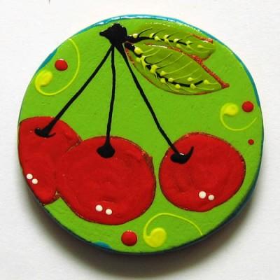 Magnet frigider cu cirese