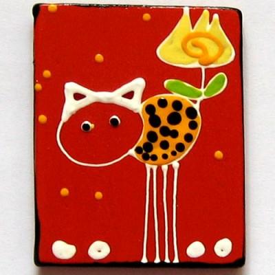 Magnet de frigider cu pisica