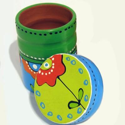 Vas din ceramică pictat-...