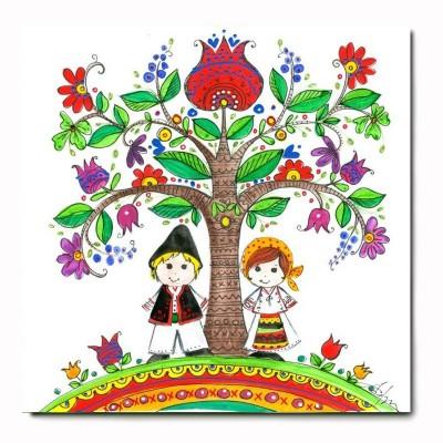 Folk Style Greeting Card